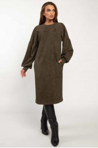 Платье «Фридом» цвета хаки