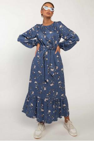 Платье «Дания» синего цвета