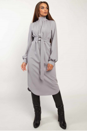 Платье «Амира» серого цвета