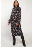 Сукня «Аміра» чорного кольору з принтом