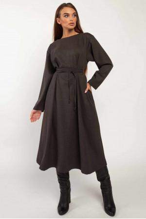 Платье «Аглая» графитового цвета