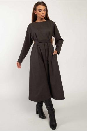 Сукня «Аглая» графітового кольору