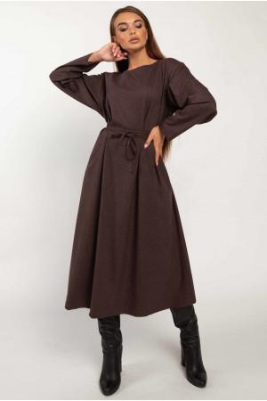 Сукня «Аглая» кольору баклажан