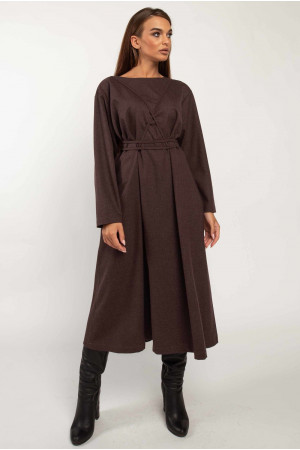 Платье «Аглая» цвета баклажан