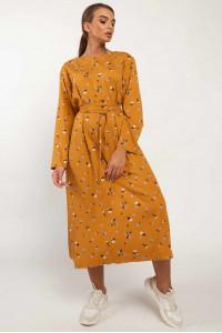 Платье «Аглая» горчичного цвета