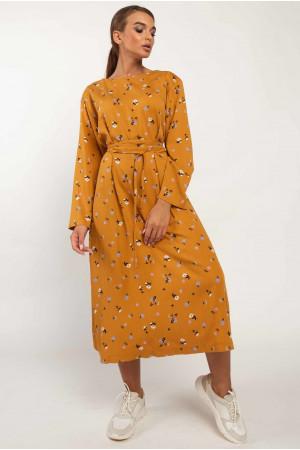 Сукня «Аглая» гірчичного кольору