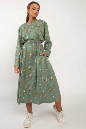 Платье «Аглая» зеленого цвета