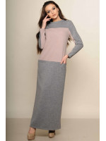 Платье «Максим» серого цвета