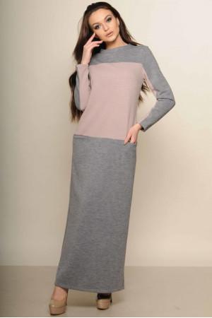 Сукня «Максим» сірого кольору