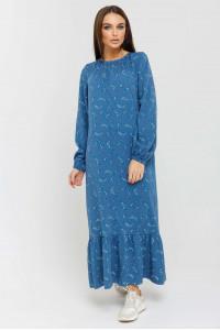 Платье «Дания» цвета джинс