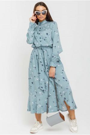 Сукня «Флорет» сіро-блакитного кольору
