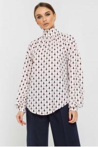 Блуза «Еміра» білого кольору з принтом