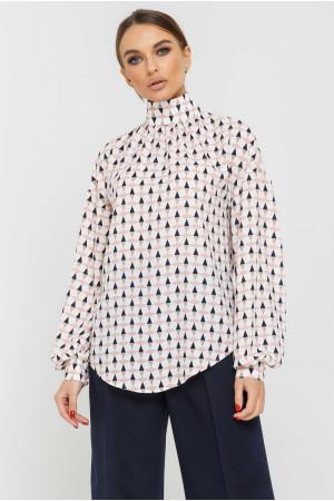 Блуза «Эмира» белого цвета с принтом
