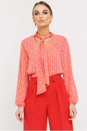 Блуза «Кенді» коралового кольору