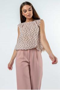 Блуза «Кітті» пудрового кольору