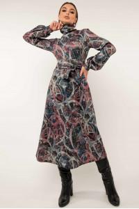 Сукня «Джейзі-принт» кольору джинс з бузковим