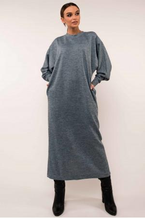 Платье «Клер» голубого цвета