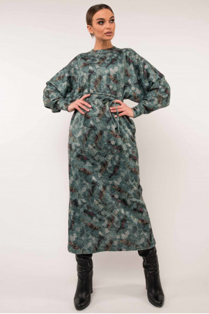 Сукня «Клер» кольору зелений принт