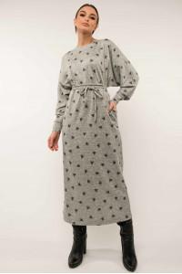 Сукня «Клер» кольору сірий принт