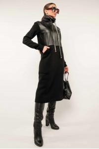 Сукня «Катаріна-шкіра» чорного кольору
