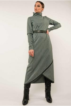 Платье «Бетани» цвета бриз в клетку