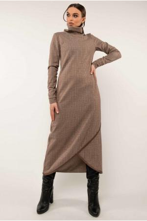 Сукня «Бетані» бежевого кольору в клітинку
