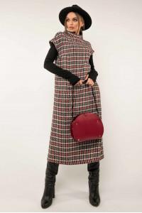 Платье-сарафан «Джоджо» цвета бордо