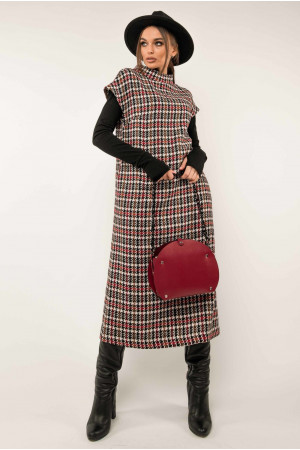 Сукня-сарафан «Джоджо» кольору бордо