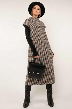 Сукня-сарафан «Джоджо» кольору капучино