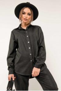 Сорочка «Лейден» чорного кольору