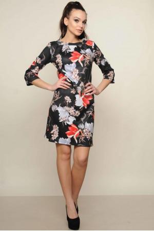 Сукня «Хвиля» чорного кольору