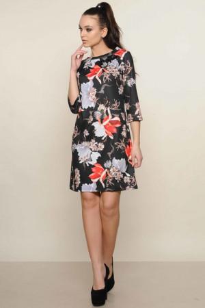 Платье «Волна» черного цвета