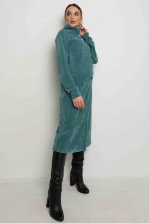 Спідниця «Лорена-велюр» світло-зеленого кольору