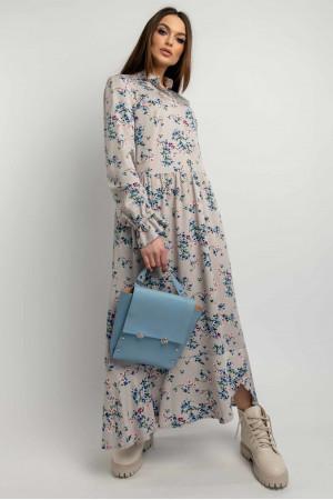 Платье «Флорет» серо-бежевого цвета