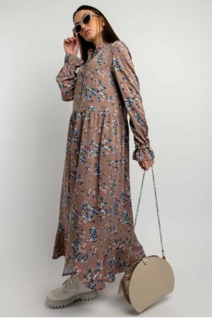Платье «Флорет» цвета капучино
