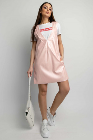 Сарафан «Лілу» перлинно-рожевого кольору