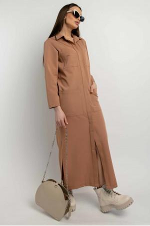 Сукня-сорочка «Альба» кольору кемел