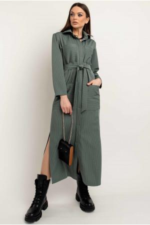 Сукня-сорочка «Альба» оливкового кольору
