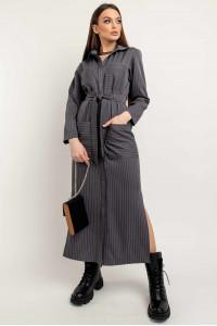 Сукня-сорочка «Альба» графітового кольору