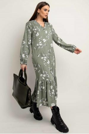 Платье «Глория» оливкового цвета