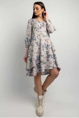 Сукня «Алія» сіро-бежевого кольору