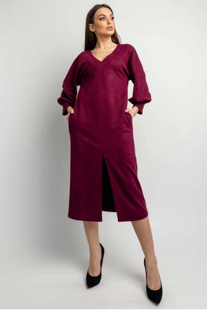 Платье «Линда» цвета марсала
