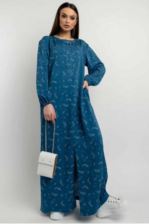 Платье «Медина» цвета джинс