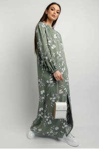 Платье «Медина» оливкового цвета