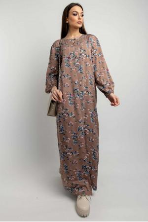Платье «Медина» цвета капучино