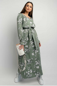 Платье «Лина» оливкового цвета