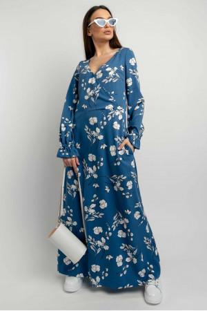 Сукня «Ліна» синього кольору