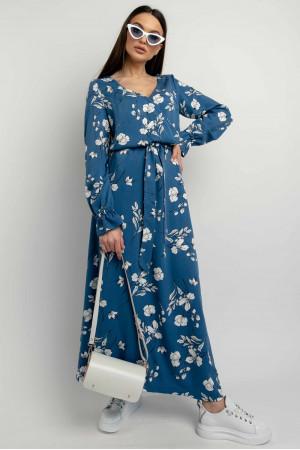 Платье «Лина» синего цвета