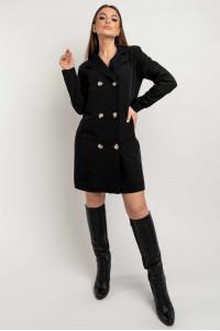 Сукня-піджак «Марго» чорного кольору