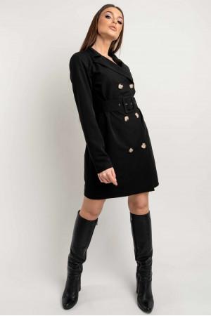 Платье-пиджак «Марго» черного цвета